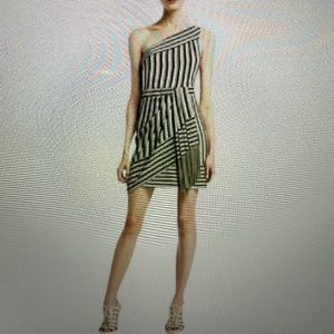 BCBG MAXAZRIA 100% silk fitted dress